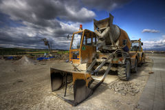 Caterpillar. Hdr picture of an excavator Royalty Free Stock Photos