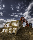 Caterpillar. Hdr picture of an excavator Stock Photos