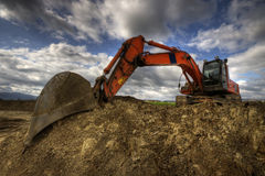 Caterpillar. Hdr picture of an excavator Stock Image