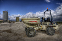 Caterpillar. Hdr picture of an excavator Stock Images