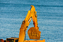 Caterpillar heavy machinery detail Royalty Free Stock Image