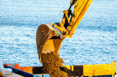Caterpillar heavy machinery detail Stock Images