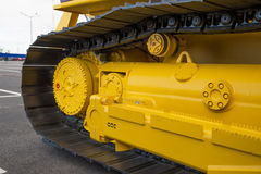Caterpillar of a large machine. Stock Image