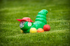 Caterpillar on a lawn Stock Photo