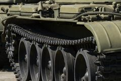 Caterpillar military tank Royalty Free Stock Photo