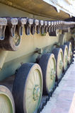 Caterpillar of military vehicle Stock Photography