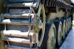 Caterpillar of military vehicle Royalty Free Stock Image