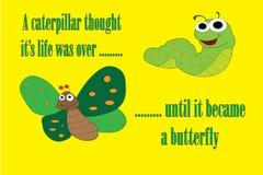 Caterpillar Motivation Royalty Free Stock Photo