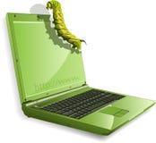 Caterpillar and notebook Stock Photo