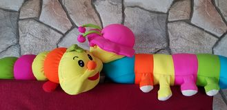 Caterpillar Soft Toy royalty free stock photo