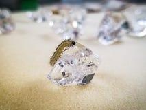 Caterpillar sul cristallo fotografie stock
