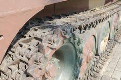 Caterpillar of tank close up Royalty Free Stock Photography