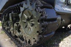 Caterpillar of tank. The caterpillar of tank closeup royalty free stock photo