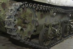 Caterpillar of tank. The caterpillar of tank closeup stock photo