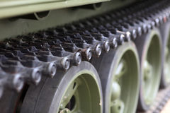 Caterpillar of the tank Stock Images