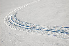 Caterpillar trace on snow Stock Photography