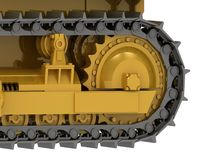 Caterpillar track close-up Stock Image