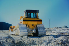 Caterpillar tracked bulldozer Stock Image