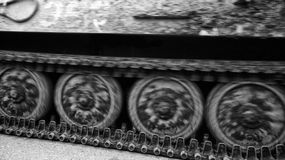 Caterpillar tracks of tank royalty free stock photo