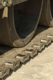 Caterpillar tracks of tank Stock Photo