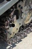 Caterpillar tracks of tank Royalty Free Stock Images