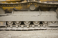 Caterpillar tracks or treads Royalty Free Stock Images