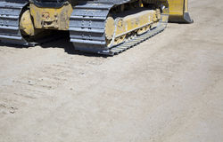 Caterpillar tracks or treads Stock Photos