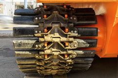 Caterpillar tractor fragment Stock Image