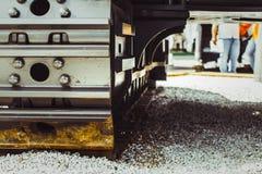 Caterpillar traktor på utställningen Fotografering för Bildbyråer