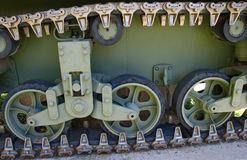 Caterpillar and undercarriage an old German tank Stock Images