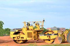 Caterpillar vibratory smooth drum roller cb 534 b Royalty Free Stock Photography