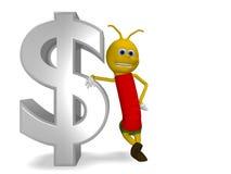 Free Caterpillar With Dollars Stock Image - 12852851