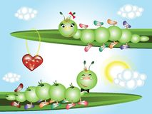 Caterpillars in love Royalty Free Stock Images