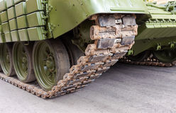 Caterpillars of a military tank Stock Photo