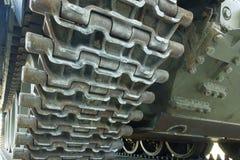 Caterpillars of Soviet tank. Stock Photos