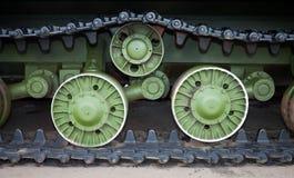 Caterpillars of the tank Stock Photo