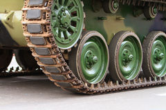 Caterpillars of a tank Royalty Free Stock Photo