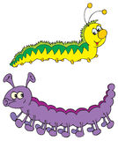 Caterpillars (vector clip-art) Royalty Free Stock Photos
