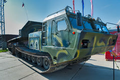 Caterpiller amphibious carrier. Russia Stock Image