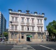 Catete-Palastfassade, der ehemalige Präsidentenpalast bringt jetzt das Republik-Museum - Rio de Janeiro, Brasilien unter lizenzfreies stockbild