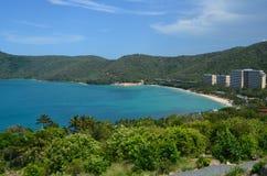 Cateye strand på den Hamilton ön Royaltyfria Foton