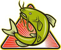 Catfish Fish Jumping Cartoon Stock Images