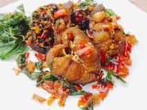 Catfish fried spicy Stock Image