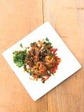 Catfish fried spicy Stock Photo