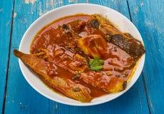 Catfish Gumbo. Delicious Catfish Stew - Catfish Gumbo, Creole-seasoned stew stock photos