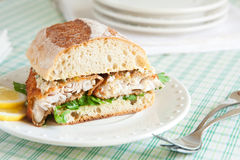 Catfish Sandwich royalty free stock photography