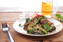 Catfish spicy stir-fry Stock Photos