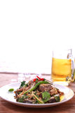 Catfish spicy stir-fry Stock Images