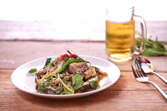 Catfish spicy stir-fry Royalty Free Stock Photography