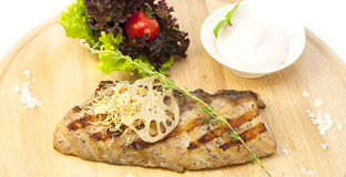 Catfish steak Royalty Free Stock Photography